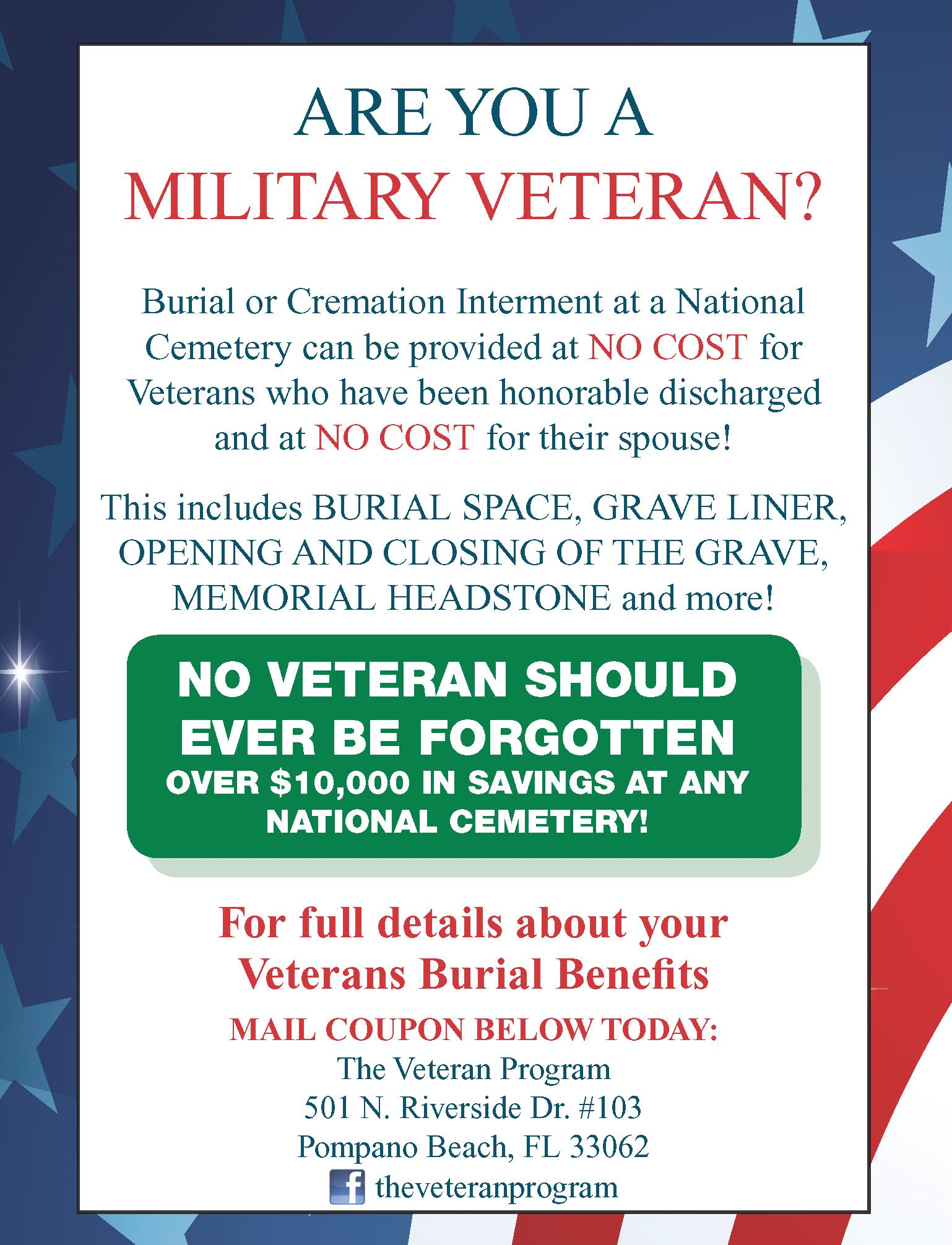 Veteran Benefits Ad